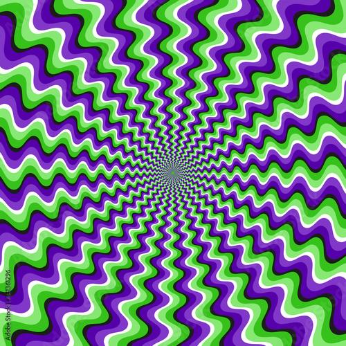 Optical motion illusion vector background Tapéta, Fotótapéta
