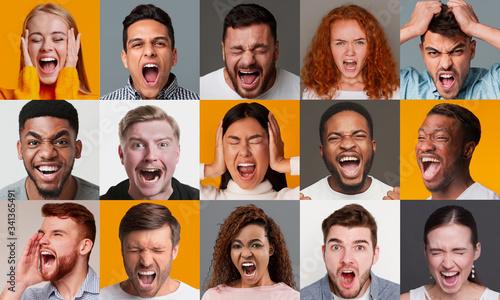 Expressing anger Billede på lærred