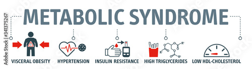 The metabolic syndrome infographics with icons Canvas Print