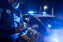 Policeman During Emergency Mis...