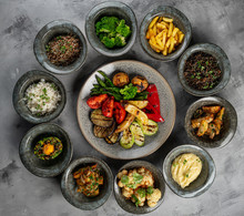 Mix Side Dishes On The Table