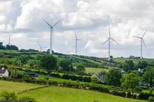 Wind Turbine At Bindoo Wind Farm, Ireland