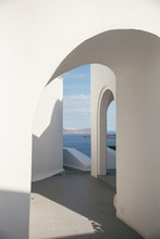 White Arch In The Greek Island