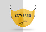 Face Protection Mask Mockup Front View  - 341414033