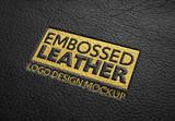 Embossed Leather Logo Design Mockup - 341439451