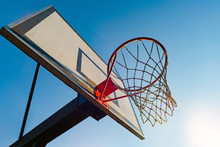Street Basketball Hoop On A Su...