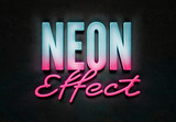 Neon 3D Text Effect Style Mockup - 341458812