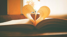 Close-up Of Heart Shape Pages ...