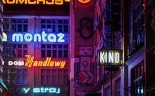 Illuminated Neon Sign In City