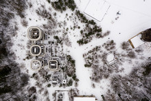 Aerial Drone View Over Giant N...