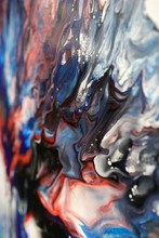 Abstract Acrylic Fluid-art Pai...