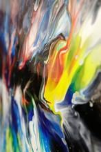 Abstract Acrylic Fluid-art Pai...