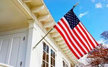 American Flag On Sandy Hook Light House Museum Reflex