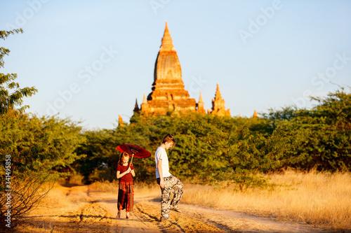 Fotografia Kids in Bagan Myanmar