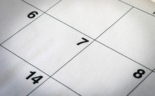 High Angle View Of Dates In Calendar