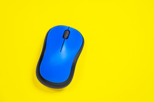 The Bright Blue Computer Mouse...