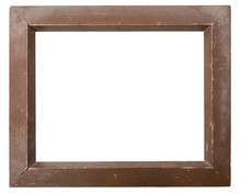 Close-up Of Blank Picture Frame Against White Background
