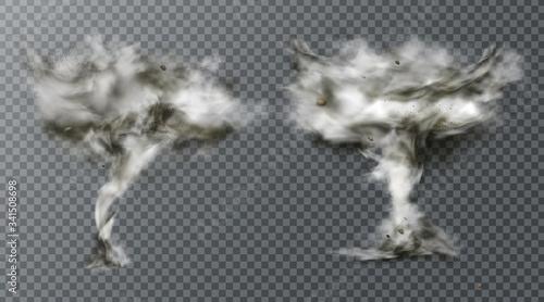 Fotografie, Obraz Tornado twister hurricane wind or cyclone vortex
