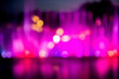 canvas print picture - Bright colors in defocus. Abstract desktop wallpaper. Rain of paint. Poor eyesight. Bokeh pink magenta