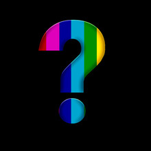Colourful Question Mark