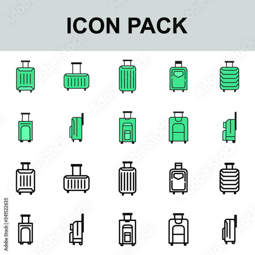 Fototapety, obrazy: Icon best luggage vector simple , illustration business pack tourism summer travel transport element isolated briefcase concept best icon outline fashion