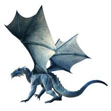A Blue Dragon, A Beast Of Myth...