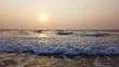 calm sea on a beautiful sunset background