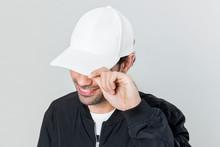 Happy Man Wearing A White Cap
