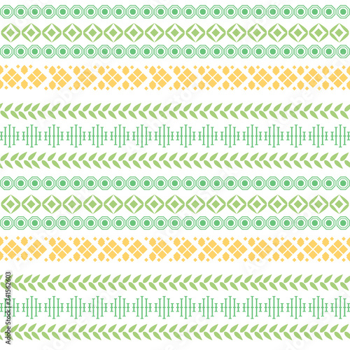 Fototapeta Modern wall paper embroidery pattern for home decor.