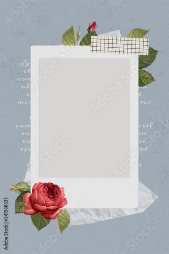Photo frame template illustration Wall mural