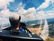 Gliding Over The Landscape