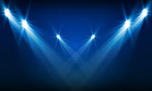 Bright Arena Lights Vector Design