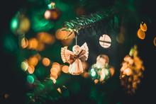 High Angle View Of Christmas Angel Decoration