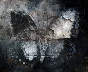 grunge abstract butterfly texture