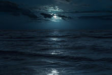 Baltic Sea At Moonlight