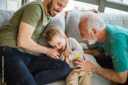 Obraz Children's happiness is invaluable. - fototapety do salonu