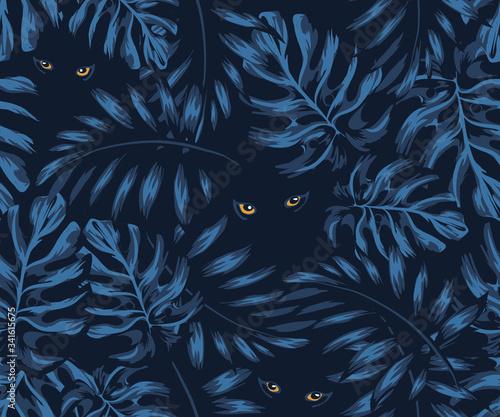 Photo set of jungle patterns shades of natural colors, eyes of a predator, eyes of a p