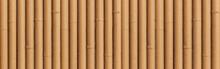 Panorama Of Bamboo Fence Textu...