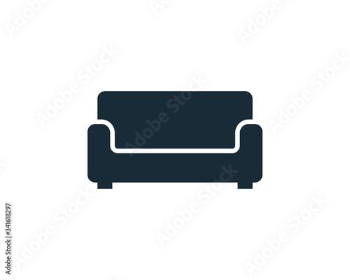 Fotografie, Tablou Sofa Couch Icon Vector Logo Template Illustration Design
