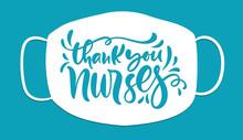 Thank You Nurses Lettering Vec...