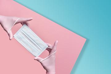 Maseczka chirurgiczna ochronna -zabezpieczenie przed wirusami
