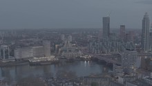 Dusk Aerial Zoom Reveal Of MI5...