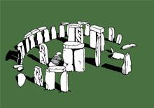 Vector Stonehenge Illustration,England Sightseeing