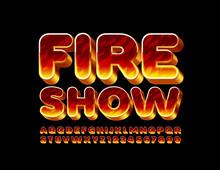 Vector Flaming Banner Fire Sho...