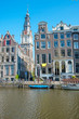 City scenic from Amsterdam in the Netherlands with the Zuiderkerk