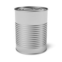 Empty Tin Can 3d Rendering