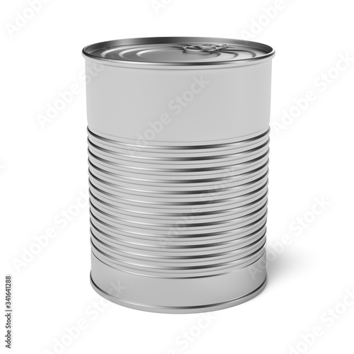 Photo Empty tin can 3d rendering