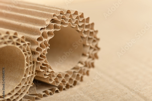 Foto Carton or cardboard packing material