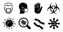 Virus Bacteria And Germ Icons ...