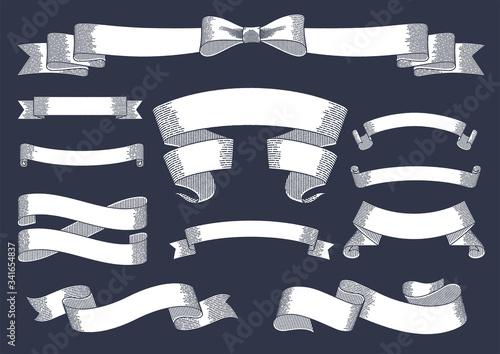Fotomural Set of vintage ribbons and banners